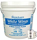 Stearns Water Flakes White Wings Ultra Laundry Detergent, Low-foaming, Powdered (250 - 1.2 oz Water Soluble Packets per Pail)