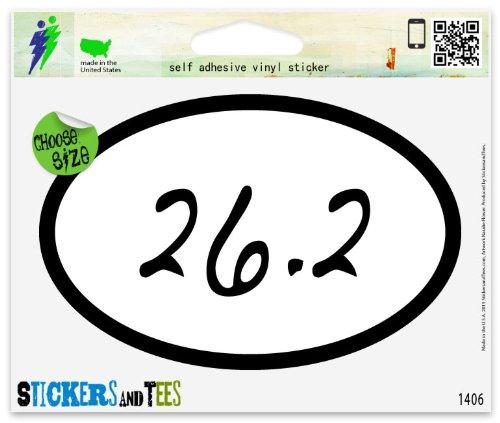 26.2 Runner Marathon Oval (26.2 Marathon Runner Oval Vinyl Car Bumper Window Sticker 3