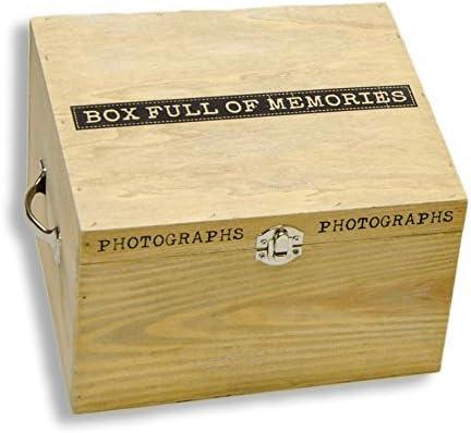 Caja para fotos Caja de madera caja de regalo joyero fotos ...