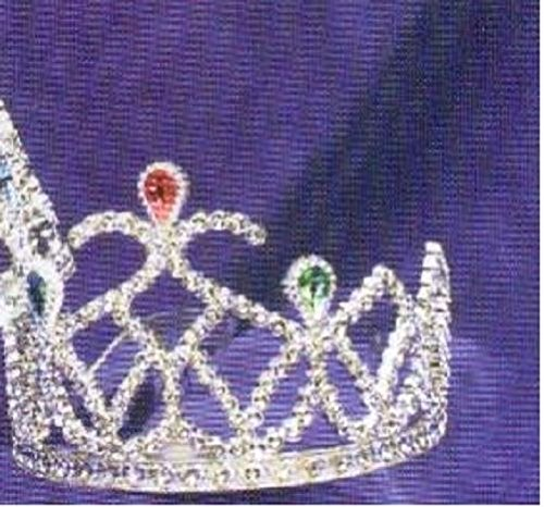 Forum Novelties Inc Tiara Stone Silver One Size Fits Most (Storybook Beauty Costume)