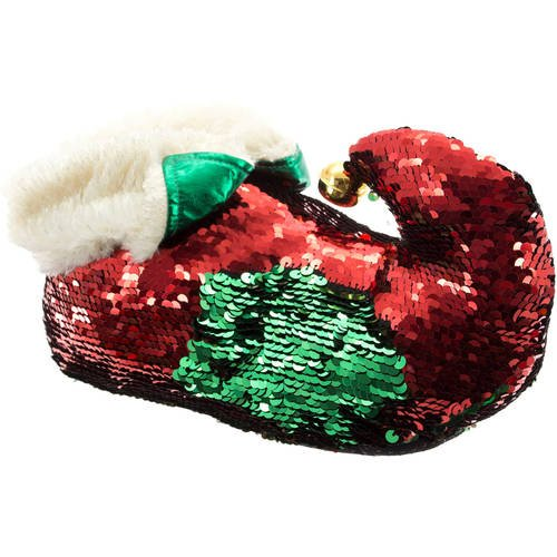 Holiday Time Women S Red And Green Reversible Sequin
