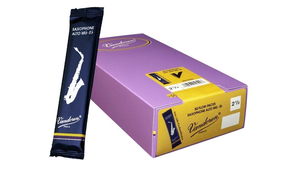 Vandoren SR2115/50 50 Pack Alto Saxophone Traditional Reed #1.5