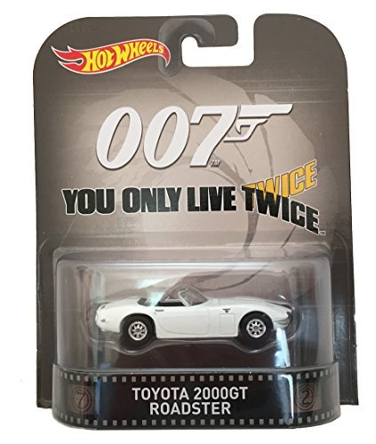 Toyota 2000GT Roadster James Bond 007 You Only Live Twice Hot Wheels 2015 Retro Series 1/64 Die Cast Vehicle ()