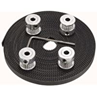 Xsentuals 5 meter GT2 Timing Belt + 4 pcs 16Teeth GT2 Pulley + Allen Key