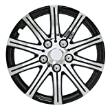 "Pilot Automotive WH528-15SE-BX Stick Silver 15"" Wheel Cover with Black Accent, (Set of 4)"