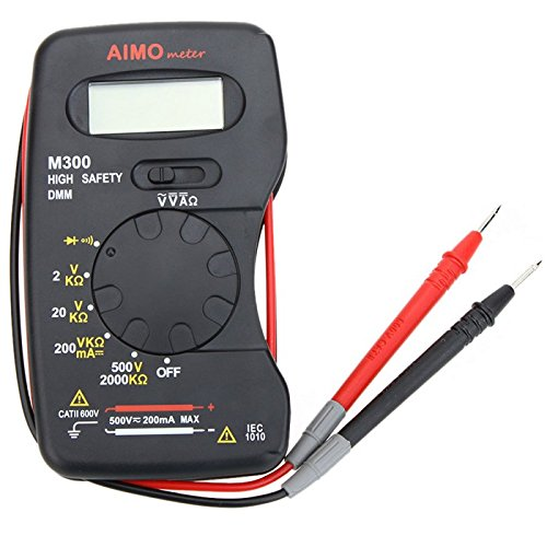 Tutoy Aimo M300 Mini Digital Lcd Multi Meters Dmm Meter Ammeter Ohm Meter Volt Meterr Resistance Tester: Kitchen & Home