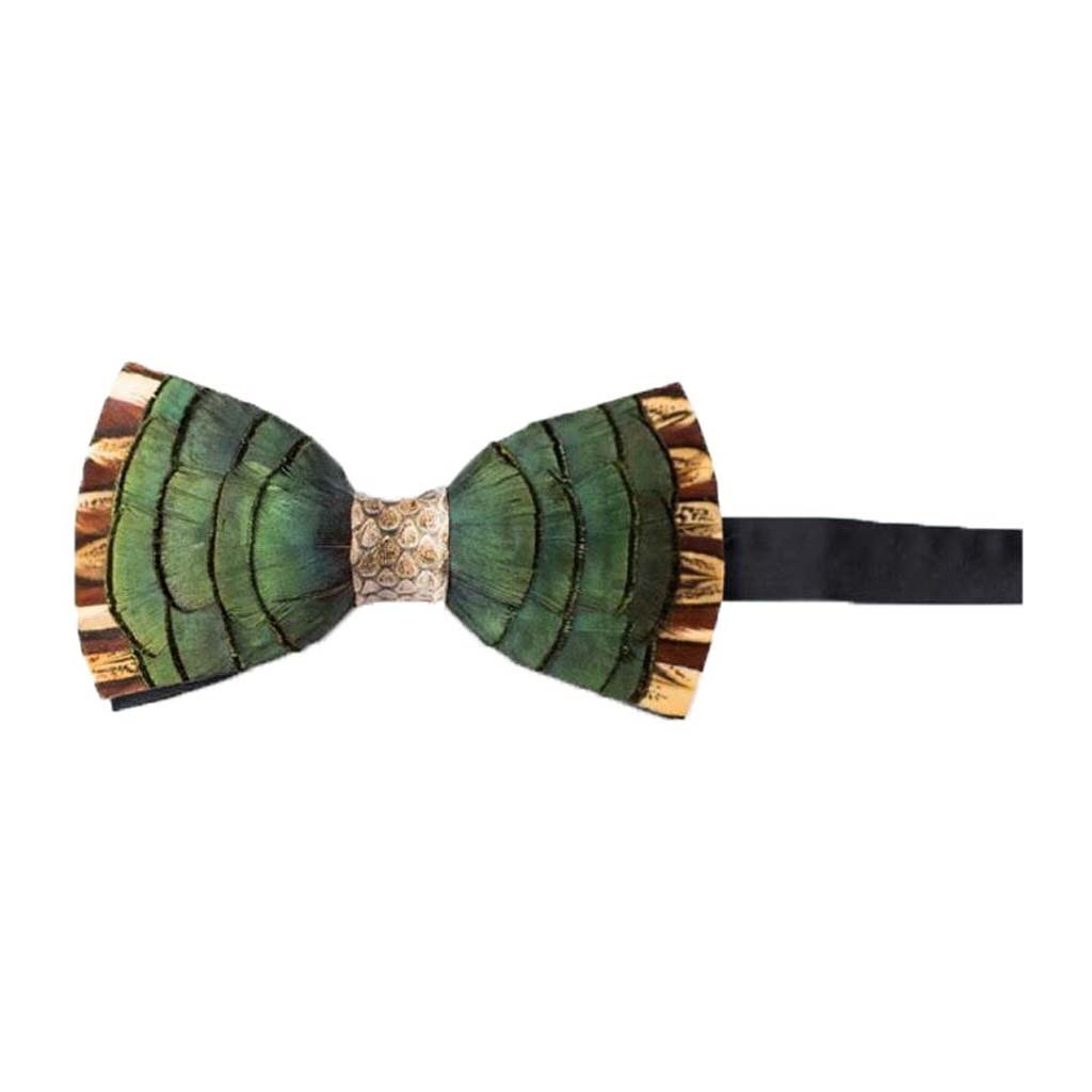 Brackish Ravenswood with Snakeskin Feather Bow Tie (154-BRK)
