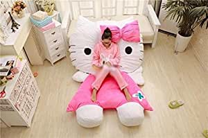 JINGYJOE Japan 200cm150cm Soft Lovely Huge Giant Pink Hello Kitty Sofa Bed