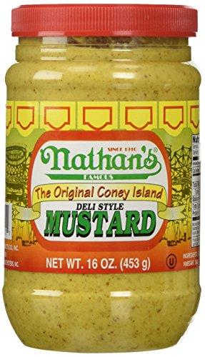 Dog Hot Nathans - Nathan Coney Island Mustard 16.0 OZ
