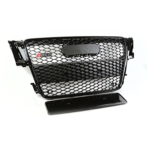 S5 8T Honeycomb Front Upper Hood ABS Grille - Glossy Black (Abs Hood)