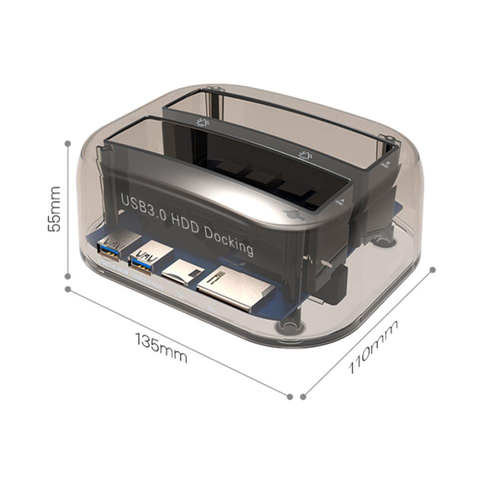 ULT-BEST Estación de acoplamiento de disco duro, 2.5 3.5 HDD SSD ...