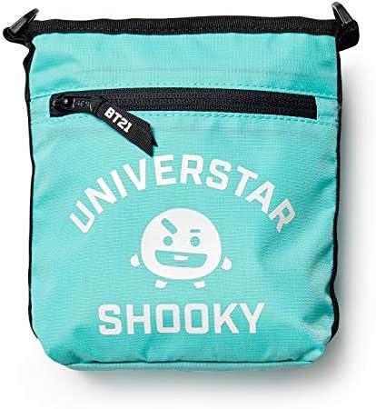 BT21 Official Merchandise by Line Friends – SHOOKY Shoulder Messenger Bag Sacoche Purse, Mint