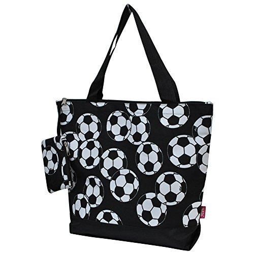 Print Tote Purse - Soccerball Print NGIL Canvas Tote Bag