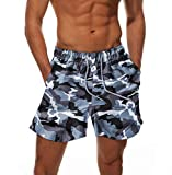 Dovava Men's Swim Short Trunks with Mesh Lining Quick Dry Swimwear Drawstring Boardshorts Above Knee with Pockets