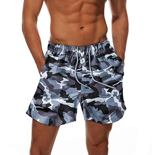 c728b85509b08 Amazon.com : Dovava Men's Swim Short Trunks with Mesh Lining Quick Dry  Swimwear Drawstring Boardshorts Above Knee with Pockets : Clothing
