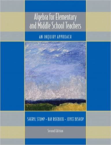 Algebra for Elementary and Middle School Teachers: An Inquiry