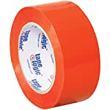 Tape Logic T90222O Polypropylene Pressure Sensitive Carton Sealing Tape, 2.2 mil Thick, 110 yds Length x 2'' Width, Orange (Case of 36)