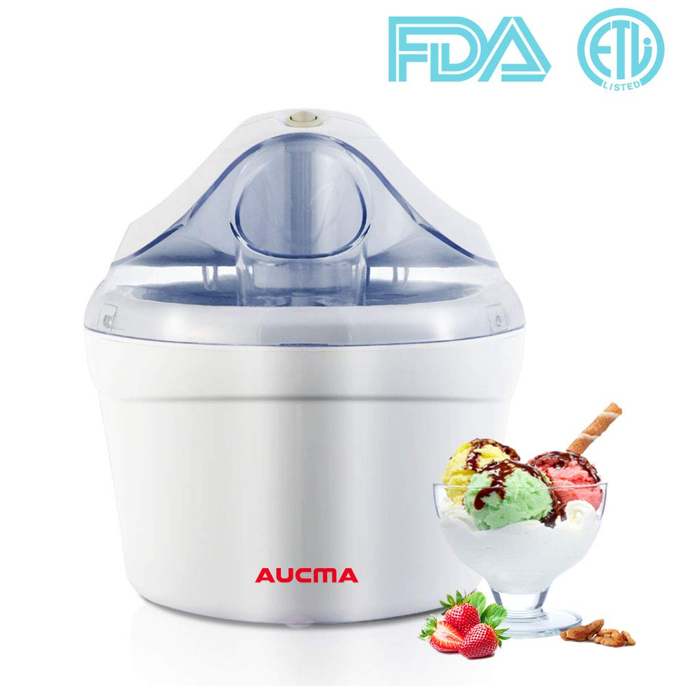 Ice Cream Maker Gelato Maker Machine for Home and Kids 1.5 Quart Frozen Yogurt Soft Serve Ice Cream Sorbet Maker Machine with FDA Approved & ETL Listed