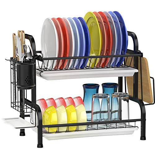 Dish Drying Rack Gslife Stainless Steel 2 Tier Dish Rack With Drainboard Ebay