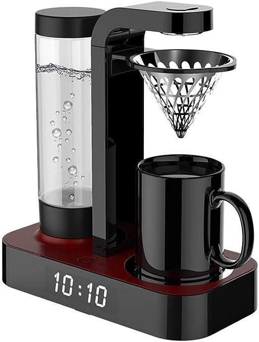 GONGFF Cafetera, Cafetera Totalmente automática, con Reloj y Taza ...