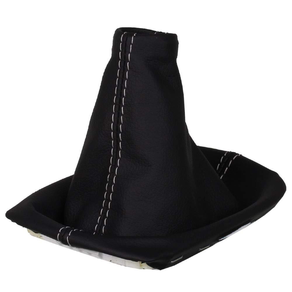 Original ICT Schaltmanschette Schaltsack 100/% Echtleder Leder in schwarz mit Rahmen Made in Germany