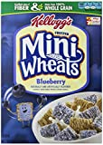 Kellogg's Frosted Mini Wheats Breakfast Cereal, Blueberry, 15.5 ounce Box (Pack of 4)