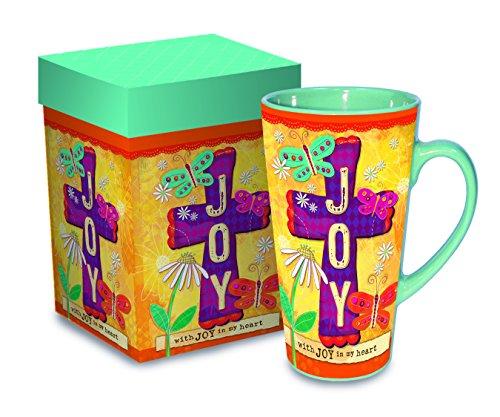 Joy Stoneware (Divinity Boutique Inspirational Stoneware Mug, Joy, Multicolor)