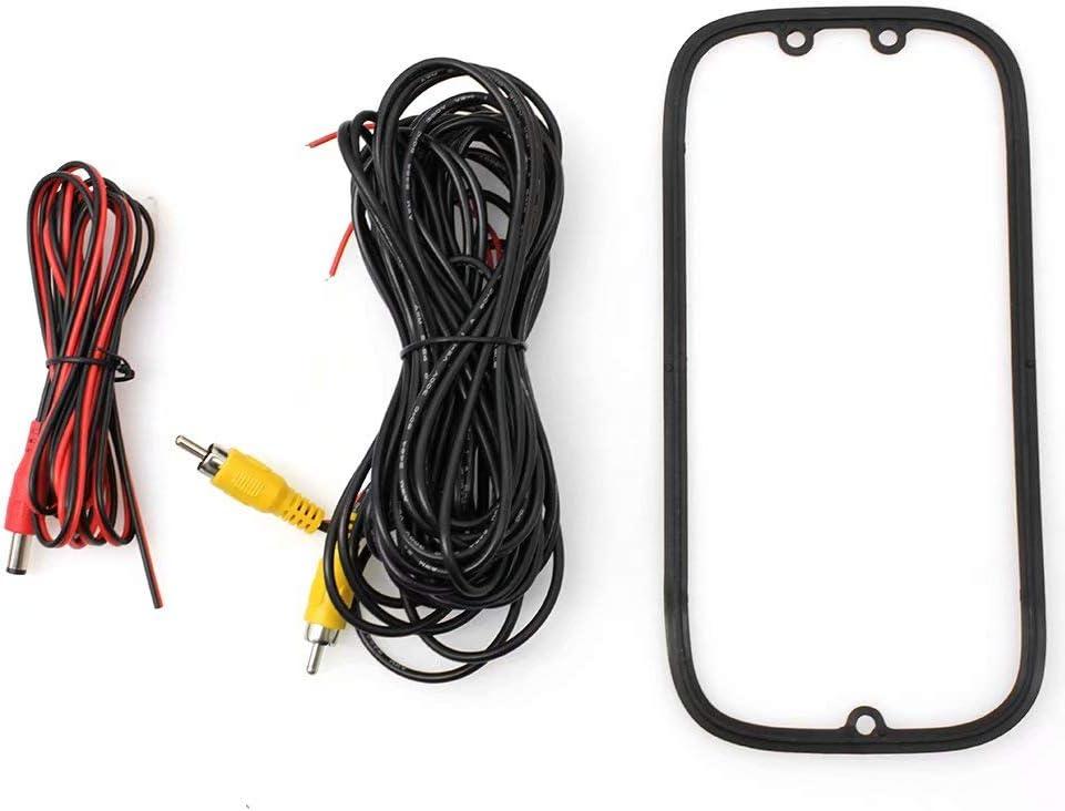 Paddsun Black Tailgate Backup Camera Handle Fits Ford F150 F250 F350 2005-2014 Color CCD