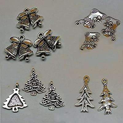 Housweety 50pcs Christmas Tree Pendants Accessories Adornments