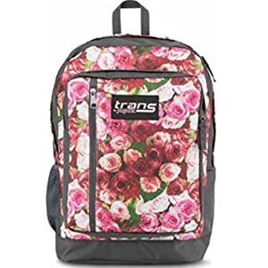 "Trans by Jansport Megahertz II Vintage Roses 15"" Laptop Backpack"