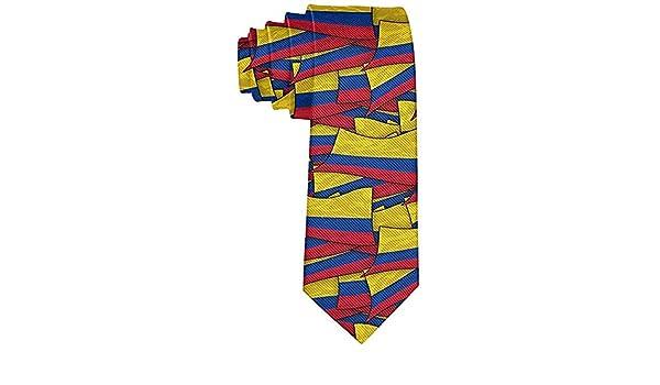 Corbata de la onda de la bandera de Colombia de la moda para los ...
