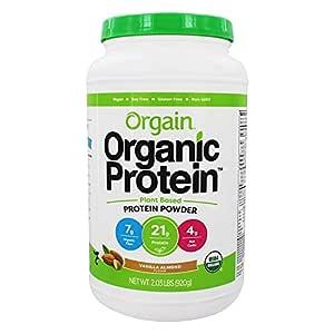 Orgain Vanilla Almond Protein Powder, 2.03 Pound