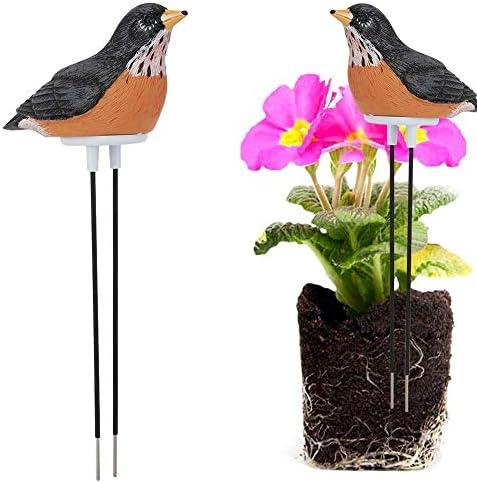Jeffergrill Mini Wireless Bodenfeuchtigkeitshygrometer-Kit für Gartenlandschaft(Braun)
