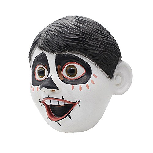Molagogo Latex Movie Anime Coco Miguel Boy Face Cosplay Mask Fancy Ball Helmet Costume Props -