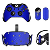 MightySkins Protective Vinyl Skin Decal for Oculus Rift CV1 wrap cover sticker skins Blue Carbon Fiber