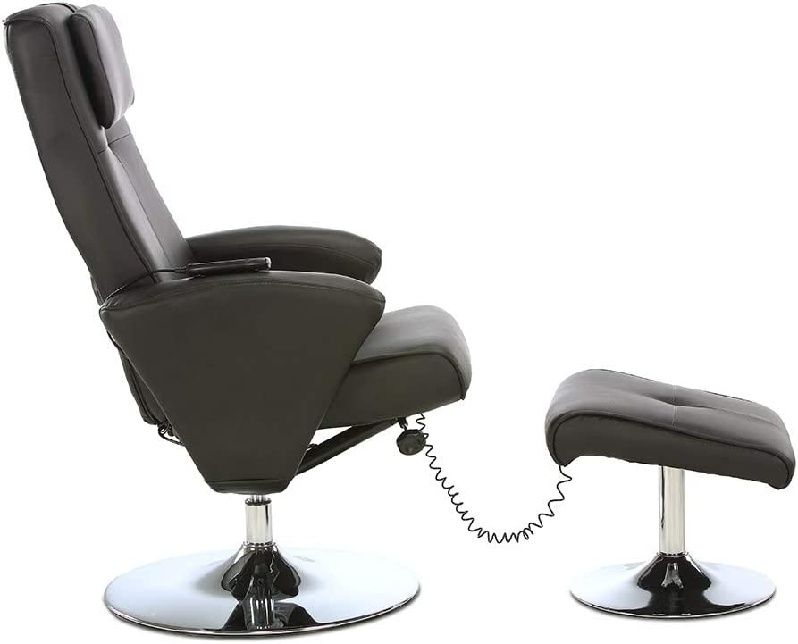 Massagestuhl Drehbar Liegefunktion Creme maxVitalis Relaxsessel mit Massagefunktion Sessel /& Hocker mit Vibrations-Massage Fernsehsessel TV Stuhl elektrisch Massagesessel mit W/ärmefunktion