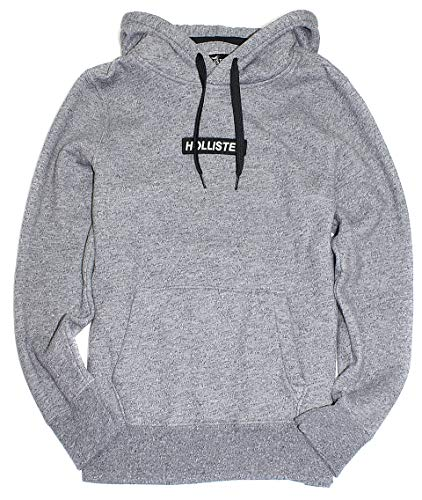 12f3dcf046 Hollister Men's Logo Graphic Pullover Fleece Hoodie HOM-25 (Medium,  0801-112)