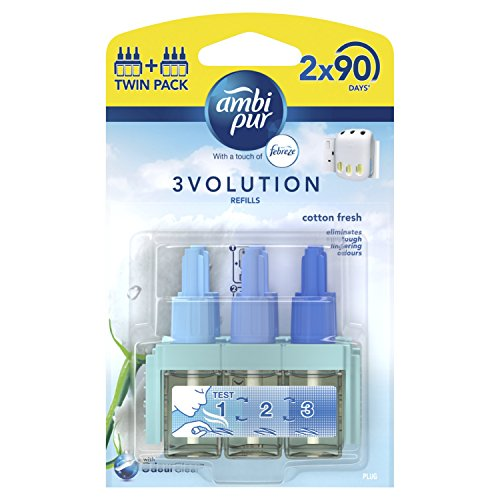 Ambi Pur 3Volution Cotton Fresh Plug-In Air Freshener Refill 20 ml (Pack of...