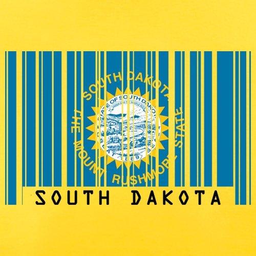 South Dakota / Süd-Dakota Barcode Flagge - Herren T-Shirt - Gelb - XL