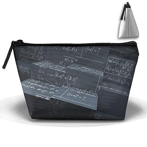 Makeup Bag Trapezoidal Storage Bag Math Function Formula Pattern Portable Cosmetic Bag Ladies Mobile Travel -
