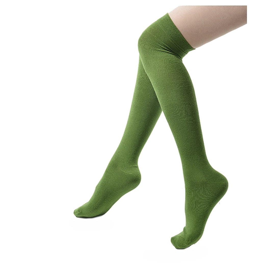 Butterme Damen Frauen Mädchen Overknee Strümpfe Baumwolle Strumpfhose Socken