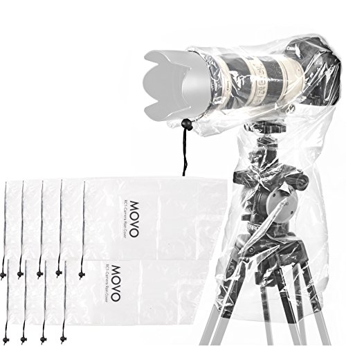Movo (10 Pack) RC1 Clear Rain Cover for DSLR Camera and Lens up to 18
