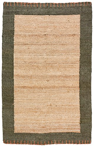 Stone & Beam Contemporary Border Jute Rug, 5' x 8', Natural by Stone & Beam