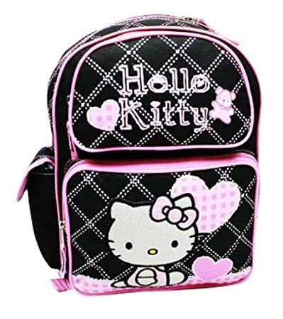 63bd5a545c Image Unavailable. Image not available for. Color  Licensed Hello Kitty  Medium 14 quot  School Backpack Bag ...