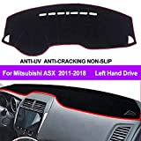 Oneuda Flannel Dashmat Dashboard Cover Dash Pad Car Mat Carpet Sun Shade forMitsubishi ASX RVR Outlander Sport 2011-2018 Anti-Slip Dash Board Cover Auto Accessories