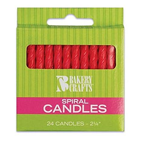 Amazon.com: Oasis Fuente espiral velas de cumpleaños, 2.25 ...
