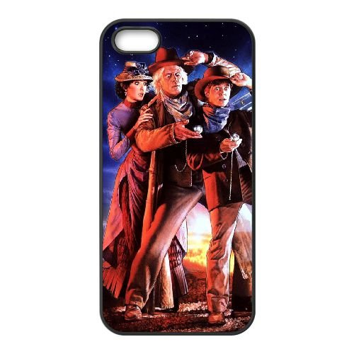 Back To The Future 003 coque iPhone 4 4S cellulaire cas coque de téléphone cas téléphone cellulaire noir couvercle EEEXLKNBC23301