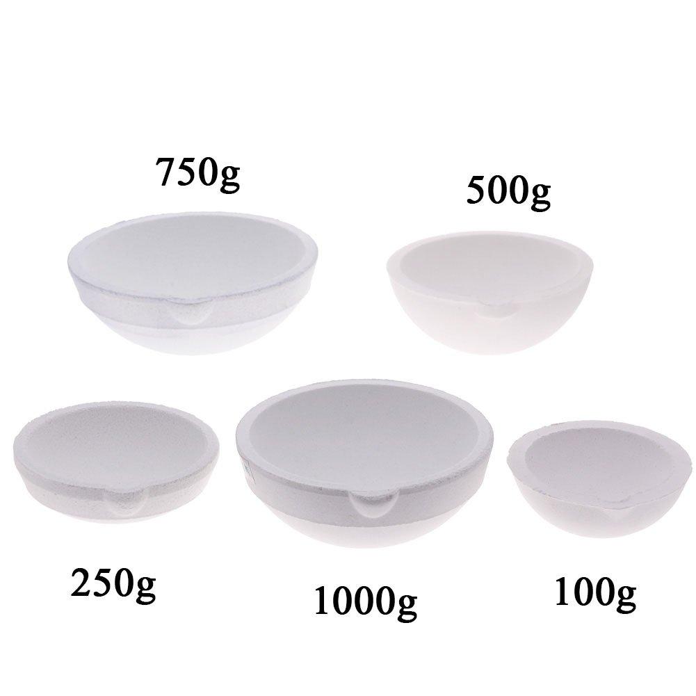Ceramic bowl Crucible smelting Dishes Casting Refining Gold Silver Prestige 500g