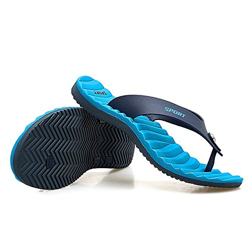 Classic Blu da Uomo Pantofola Scarpe Cricket Sandali da Flops Flip per Spiaggia da ZH7ZIETWUq