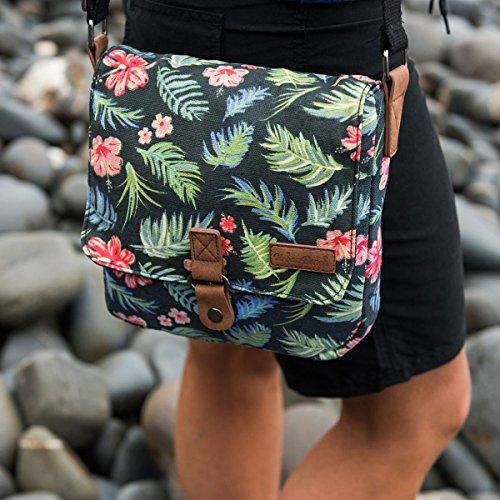 Negro Y Beach Playa Bolsa 22 Cm Asau black Tela Urban De OzXXwx